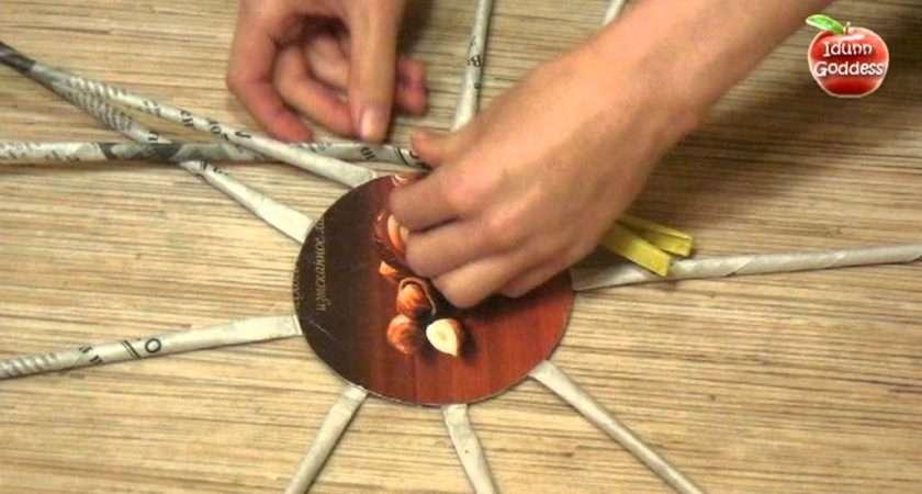 Diy Make Basket Recycled Newspaper Handmade