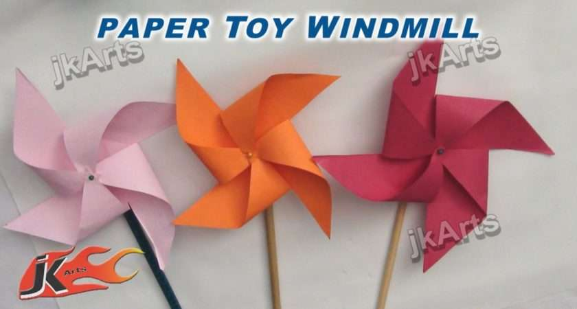 Diy Make Paper Toy Windmill Easy Craft Kids Arts