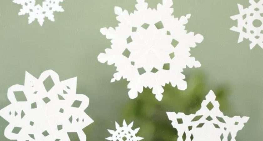 Diy Paper Snow Flakes Craft Pinterest