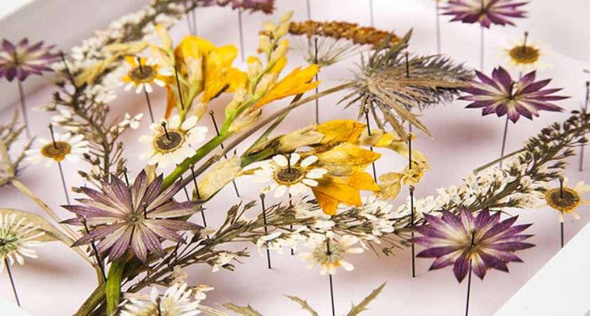 Diy Pressed Flower Wall Art Design Sponge