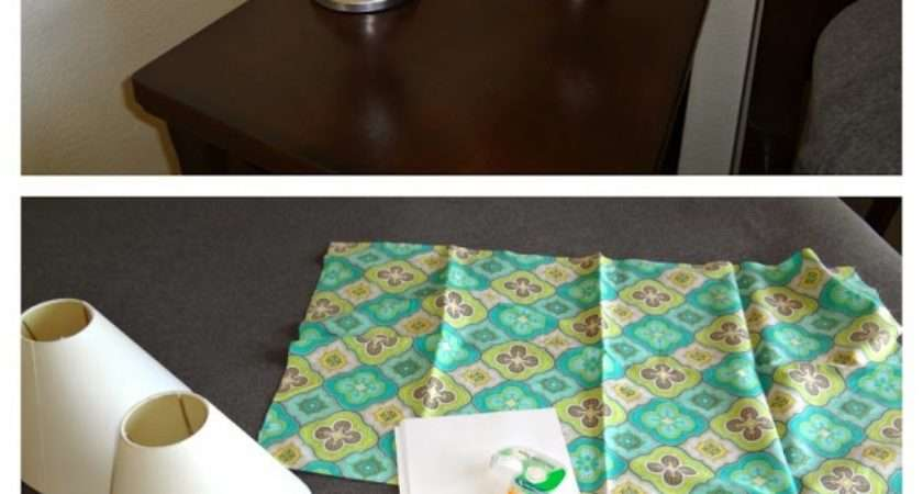 Diy Recovering Lamp Shades Katie Crochet Goodies