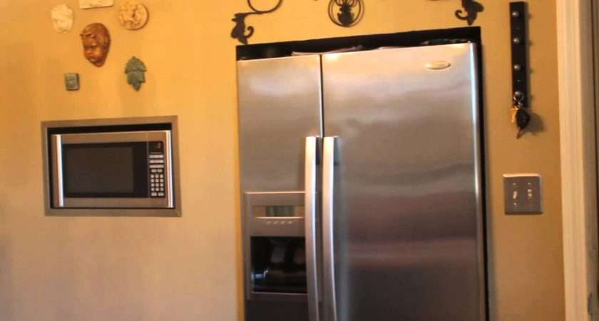 Diy Refrigerator Microwave Bumped Out Wall Youtube