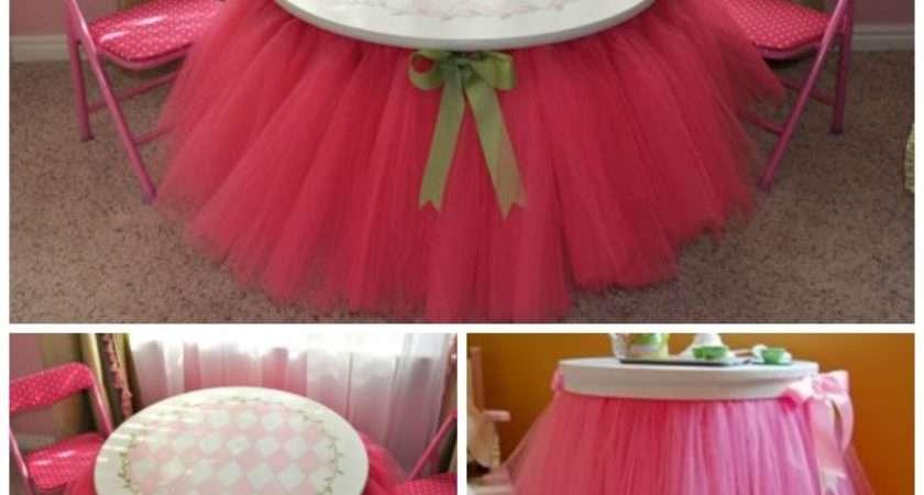 Diy Sew Tulle Tutu Table Skirt Video