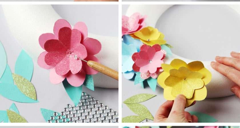 Diy Spring Paper Flower Wreath Gathering Beauty