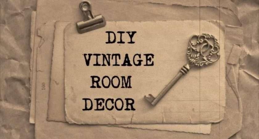 Diy Vintage Room Decor Haley Bronwen Youtube