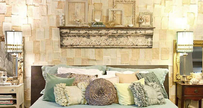 Diy Wall Book Pages Vintage Master Bedroom Follow Well