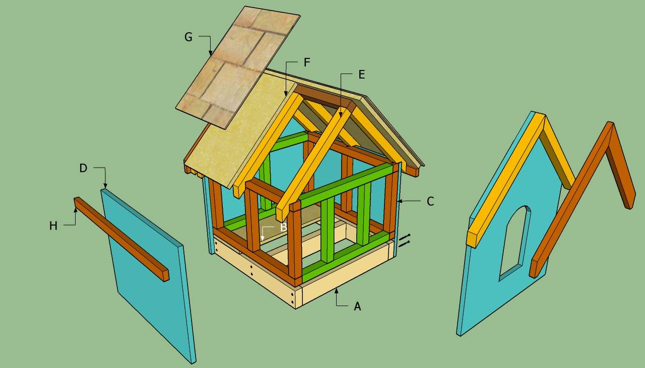 Dog House Howtospecialist Build Step Diy Plans