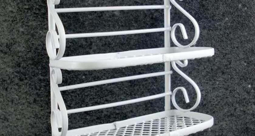 Dolls House Miniature Furniture White Wire Wrought Iron