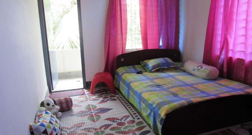 Door Open Empty Bed Pillow Side