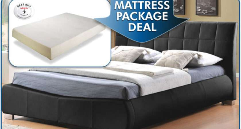 Dorado Ultra Modern Faux Leather Bed Combined