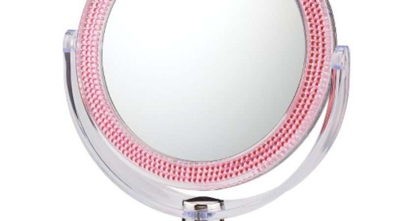 Double Sided Standing Magnified Makeup Bathroom