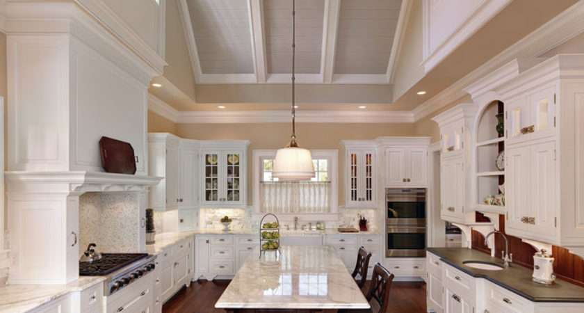 Dramatic Vaulted Ceiling Kitchen Traditional