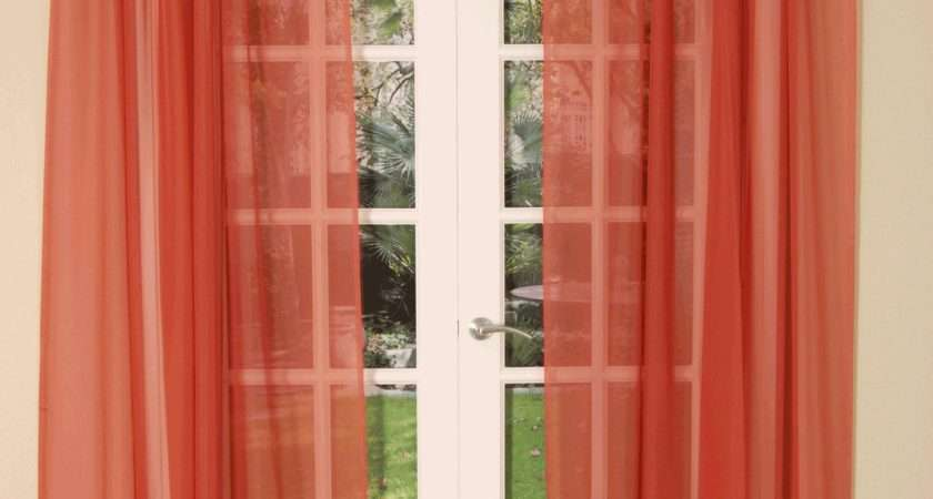 Dress Your Windows Lace Lined Translucent Voile