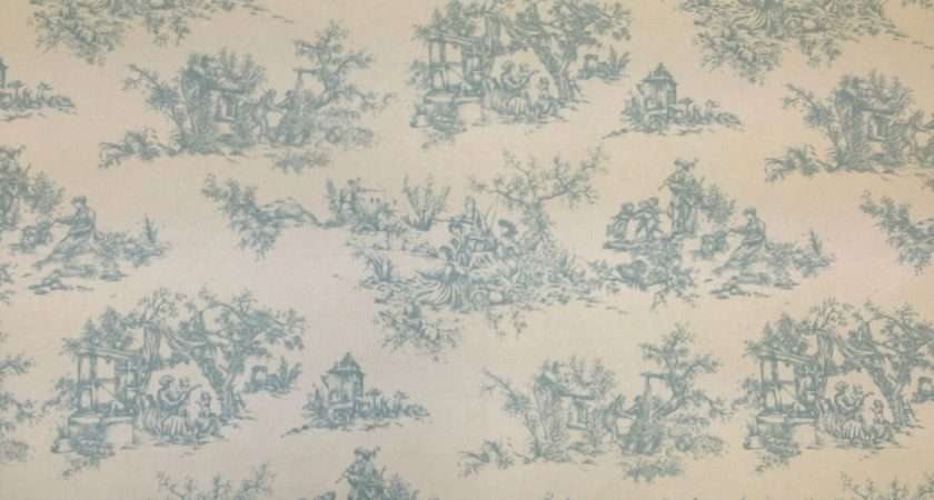 Duck Egg Blue Cream French Shabby Chic Cotton Curtain Fabric Ebay