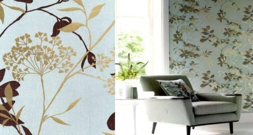 Duck Egg Brown Gold Floral Room Ideas Pinterest