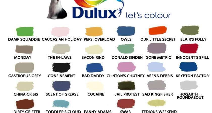 Dulux Colour Chart Poke