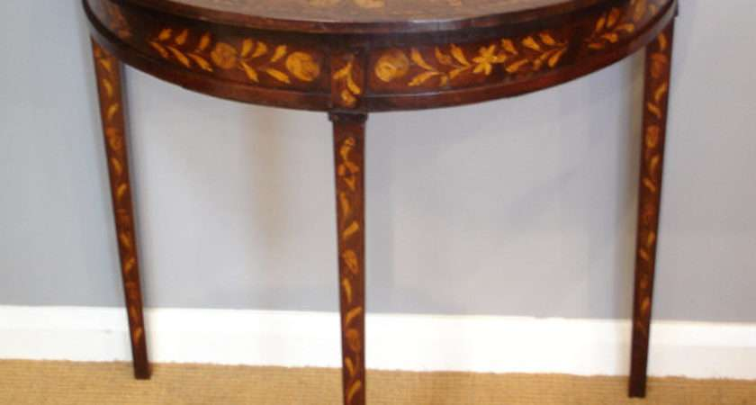 Dutch Inlaid Console Table Side