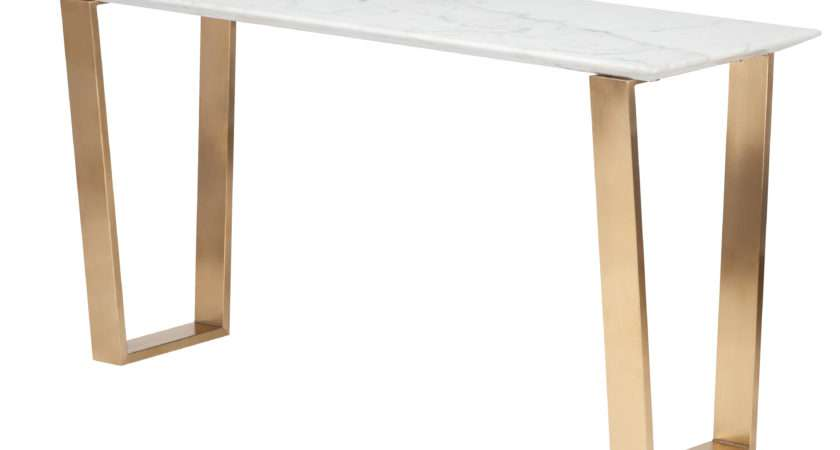 Dwellstudio Zion Marble Console Table