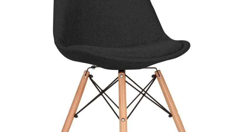 Eames Inspired Black Upholstered Dining Chair Dsw