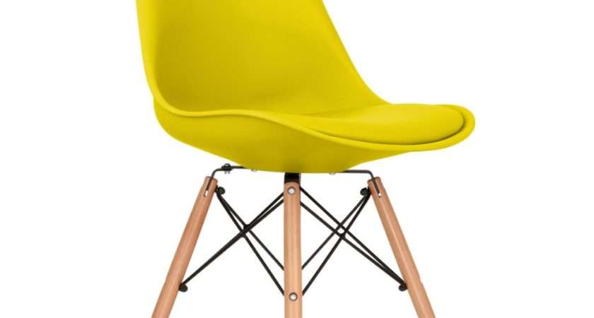 Eames Inspired Dining Chair Yellow Dsw Wood Legs
