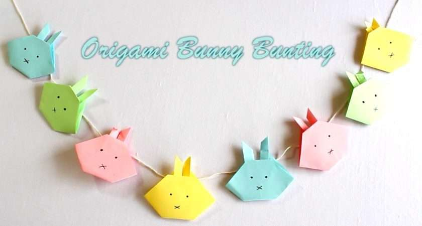 Easter Crafts Make Origami Bunny Bunting Youtube