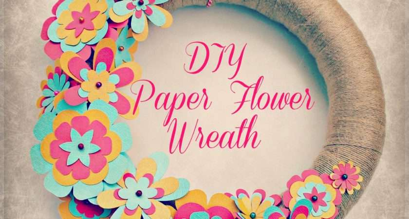 Easy Diy Paper Flower Wreath Sweet Lil
