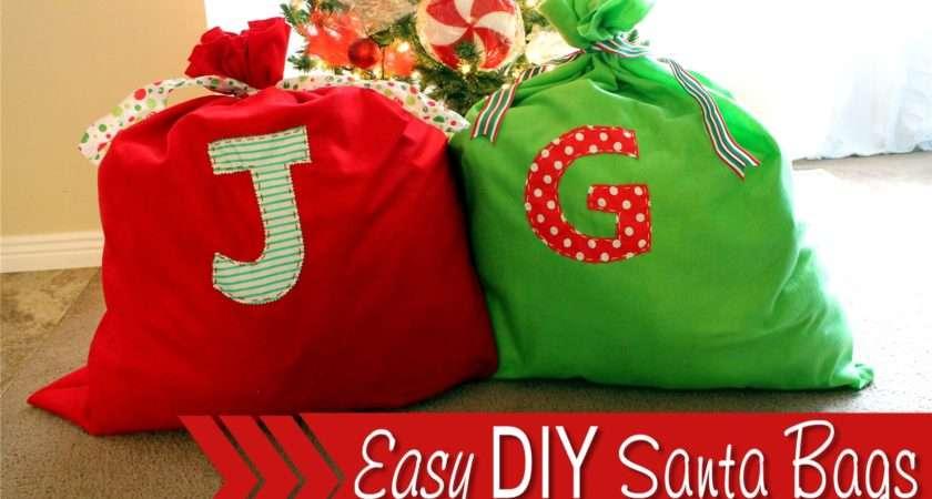 Easy Diy Santa Bag Find Make Love