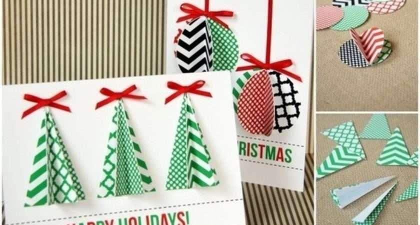 Easy Homemade Christmas Card Tutorials Curbly