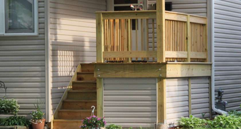 Easy Make Small Front Porch Built Wood Posts Under Space
