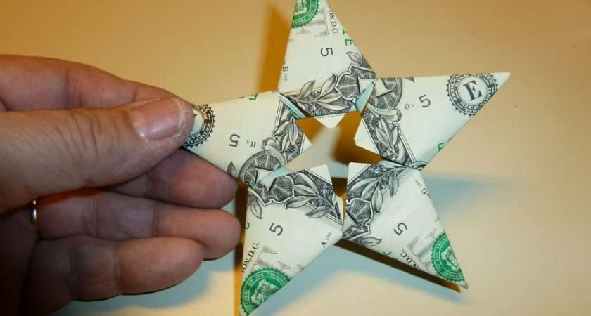 Easy Money Folded Five Pointed Origami Star Craft Tutorials