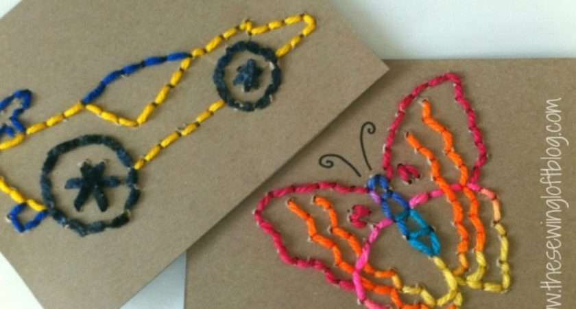 Easy Stitch Cards Busy Hands Learn Sew