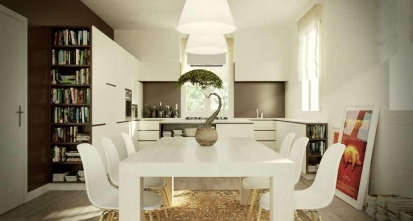 Eat Kitchen White Chair Table Olpos Design