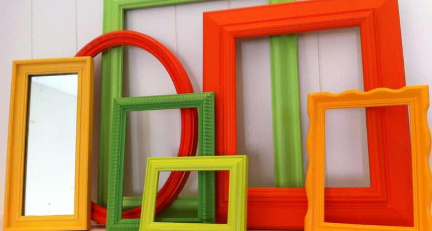 Eclectic Home Decor Frame Set Mirror Lime Fefifofun