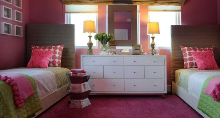 Eclectic Hot Pink Girls Bedroom Hgtv