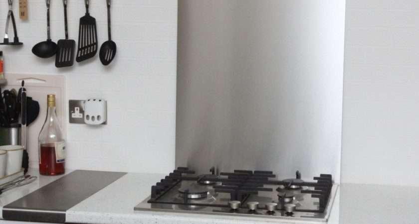 Economy Stainless Steel Kitchen Splashback
