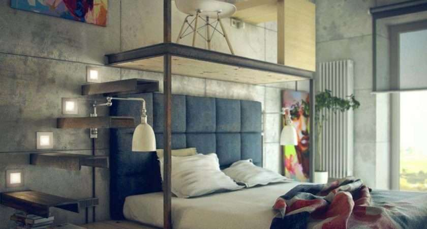 Edgy Industrial Style Bedrooms Creating Statement