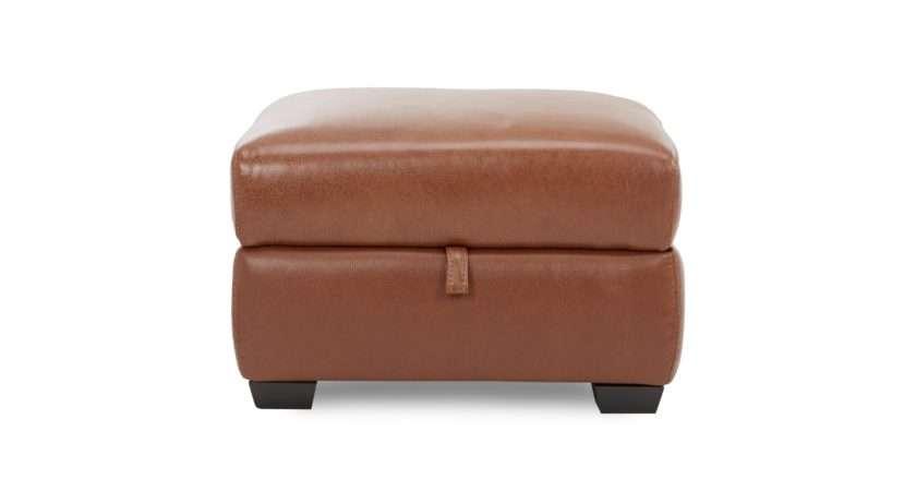 Editor Storage Footstool Brazil Leather Look Fabric Dfs