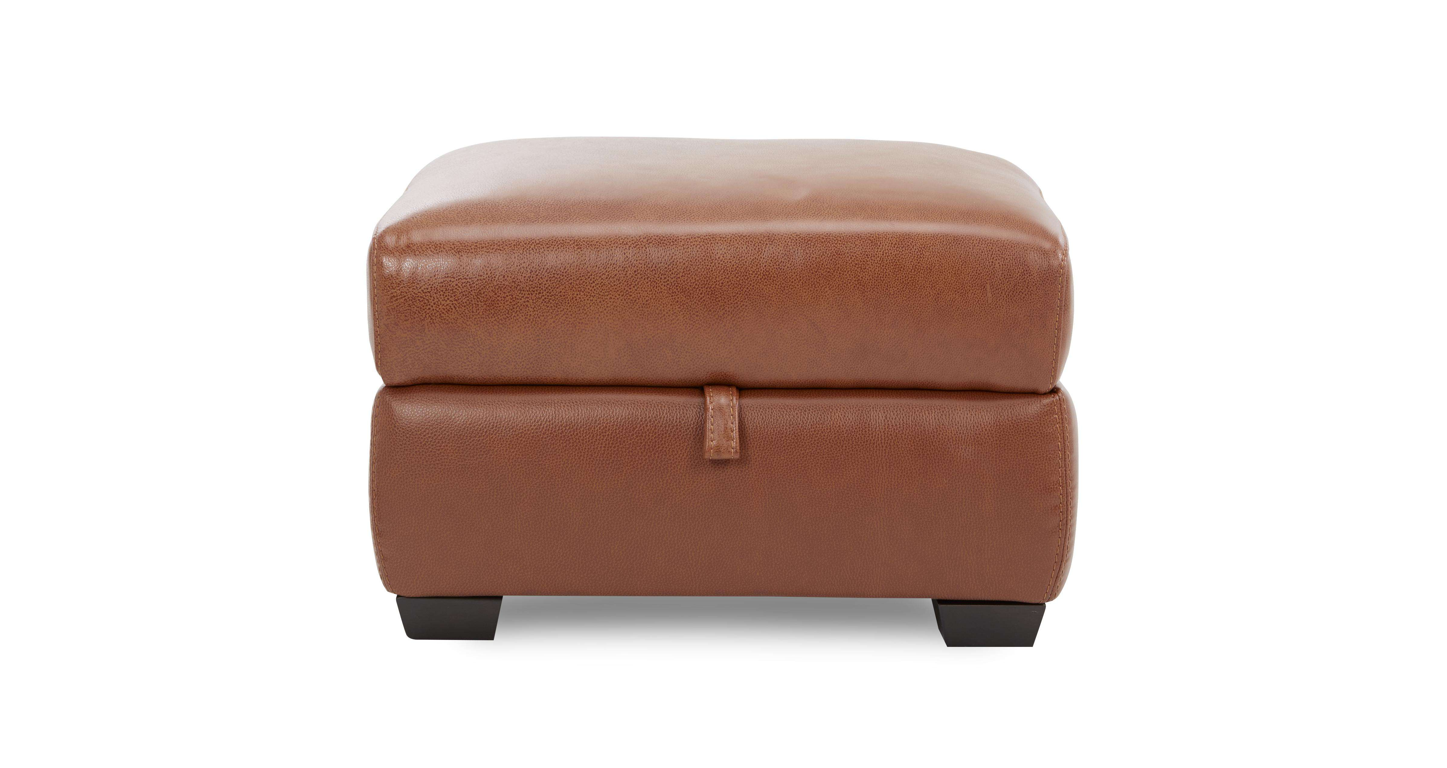 Editor Storage Footstool Brazil Leather Look Fabric Dfs