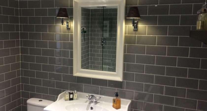 Edward Stylish Grey Bathroom Metro Tiles Walls