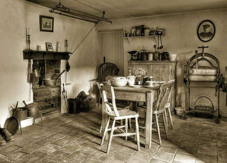 Edwardian Farmhouse Kitchen Feeling Old Times Pinterest