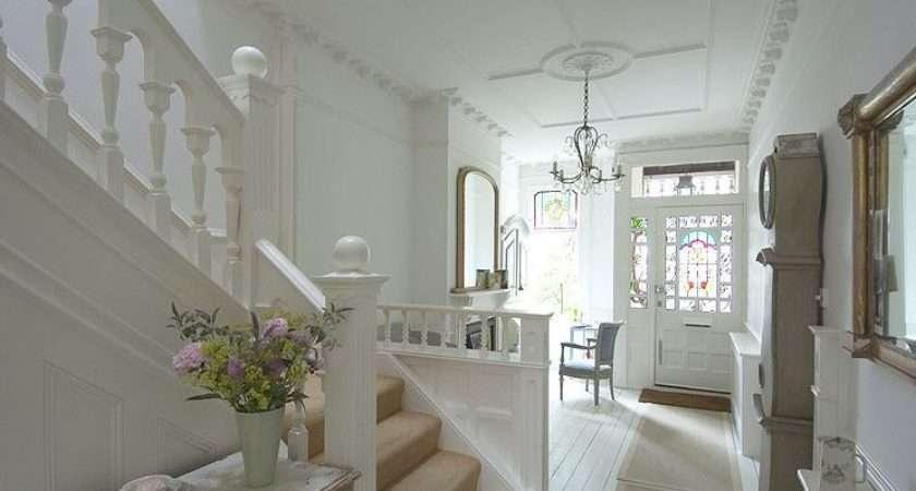 Edwardian House England Showing Hallway Furnished Desk