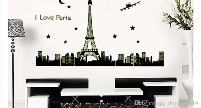 Eiffel Tower Bedroom New Paris Night Glow Stickers