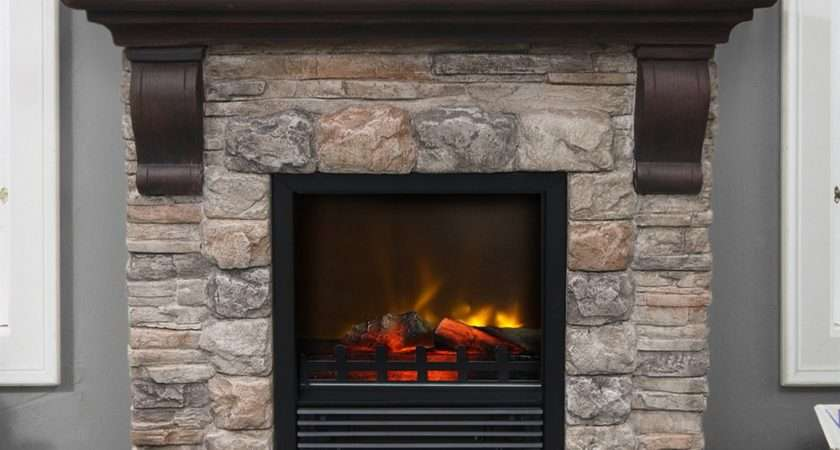 Electric Faux Stone Fireplace Design Ideas