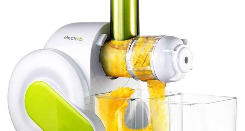 Electriq Horizontal Slow Masticating Juicer Fruit