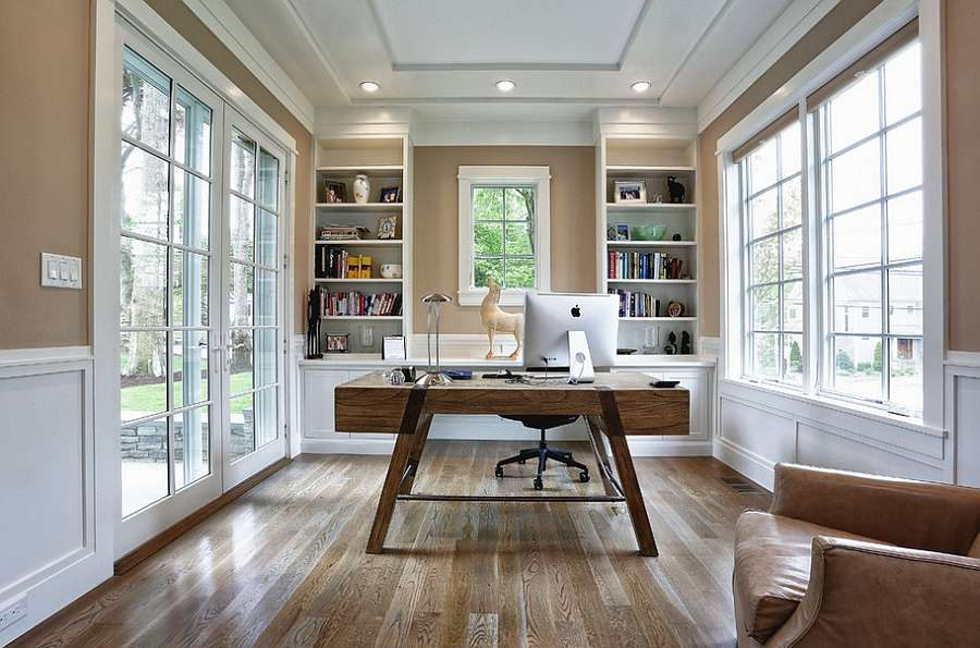 Elegant Beach Style Home Office Modern Touch Cheerful