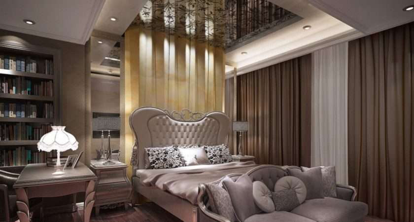 Elegant Bedroom Interior Bookcase House