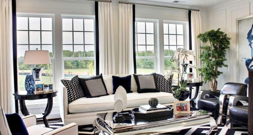 Elegant Black White Living Room