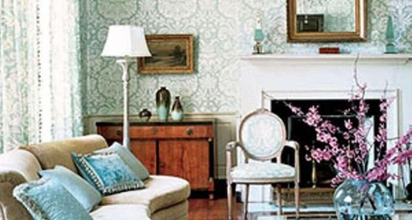 Elegant Chic Living Rooms Damask