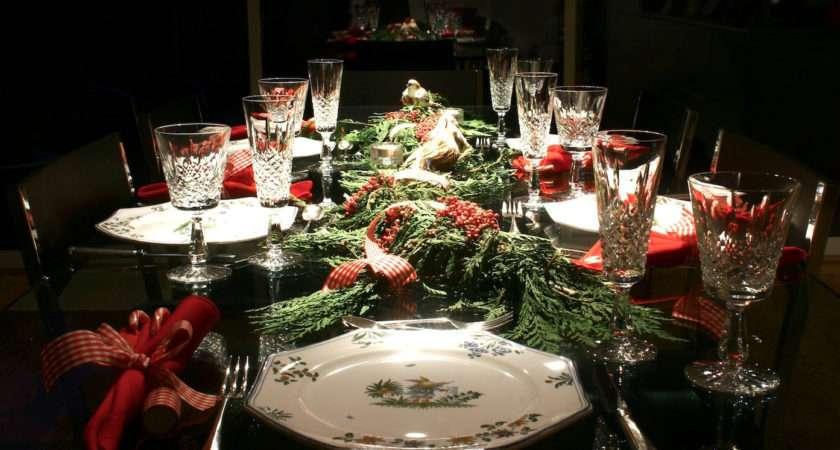 Elegant Christmas Dining Rooms Ideas Room Nice Table