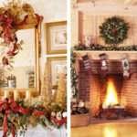 Elegant Christmas Fireplace Mantel Decorations Decor
